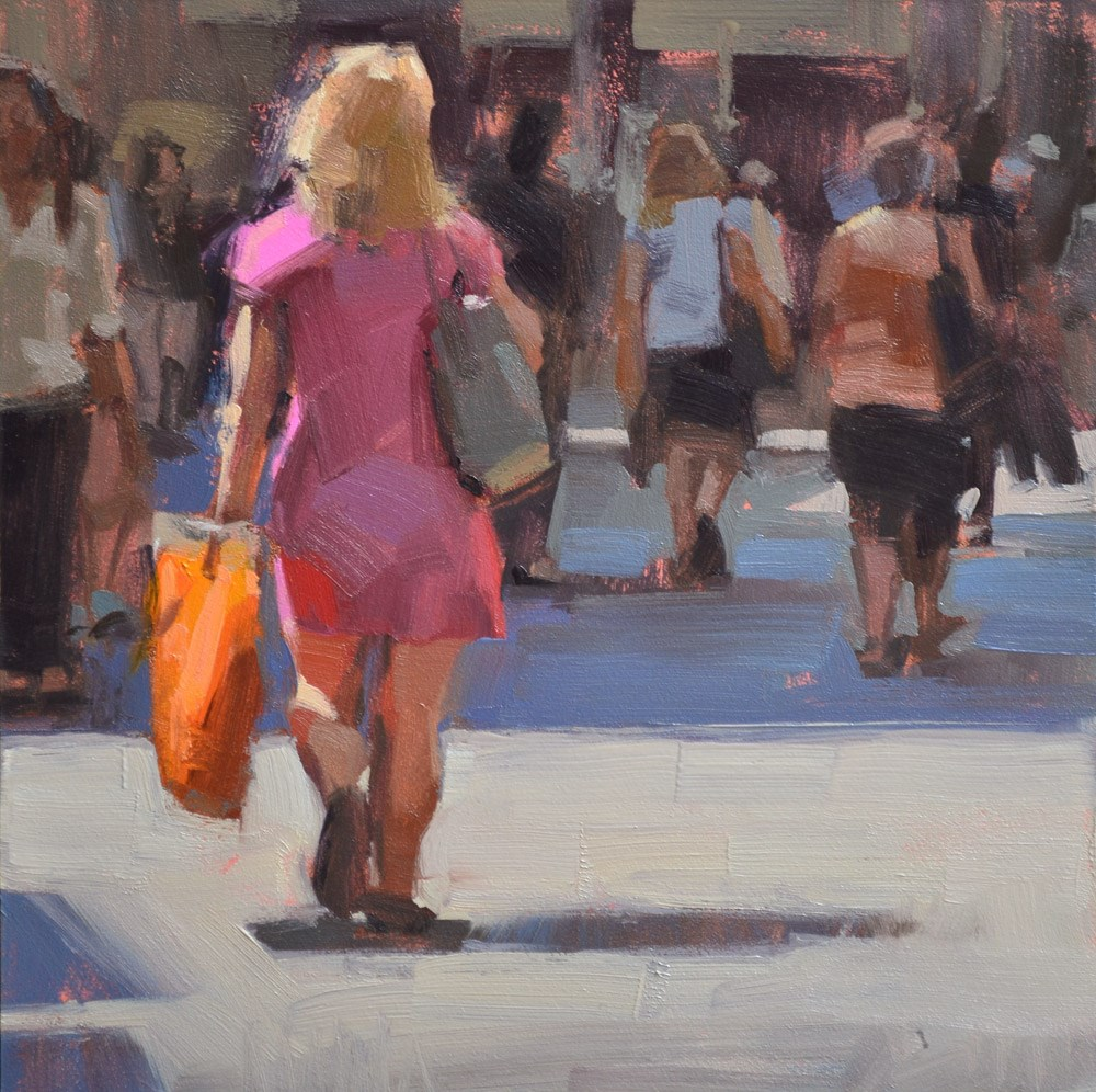 """Pink Dress"" original fine art by Carol Marine"