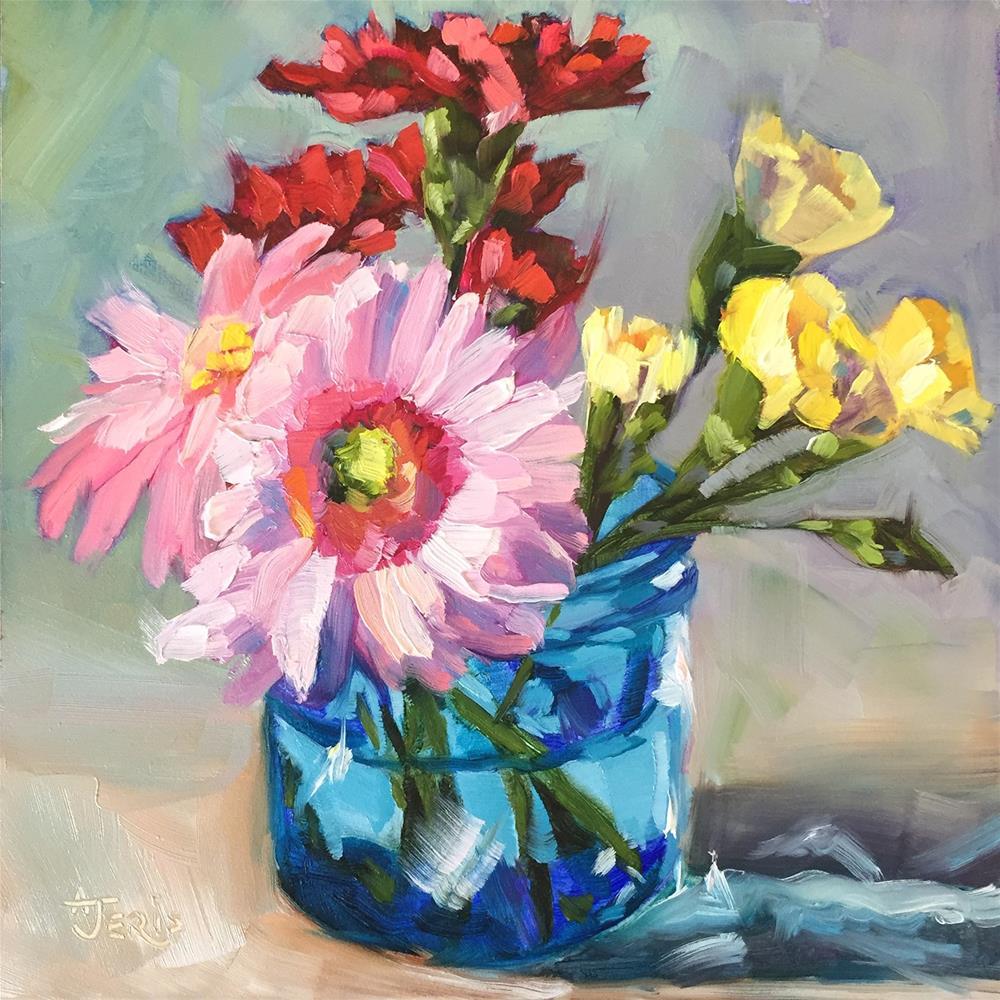 """Floral Cheer"" original fine art by Andrea Jeris"