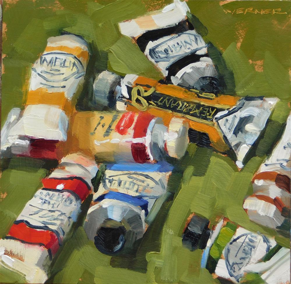 """""""Scattered Tubes"""" original fine art by Karen Werner"""