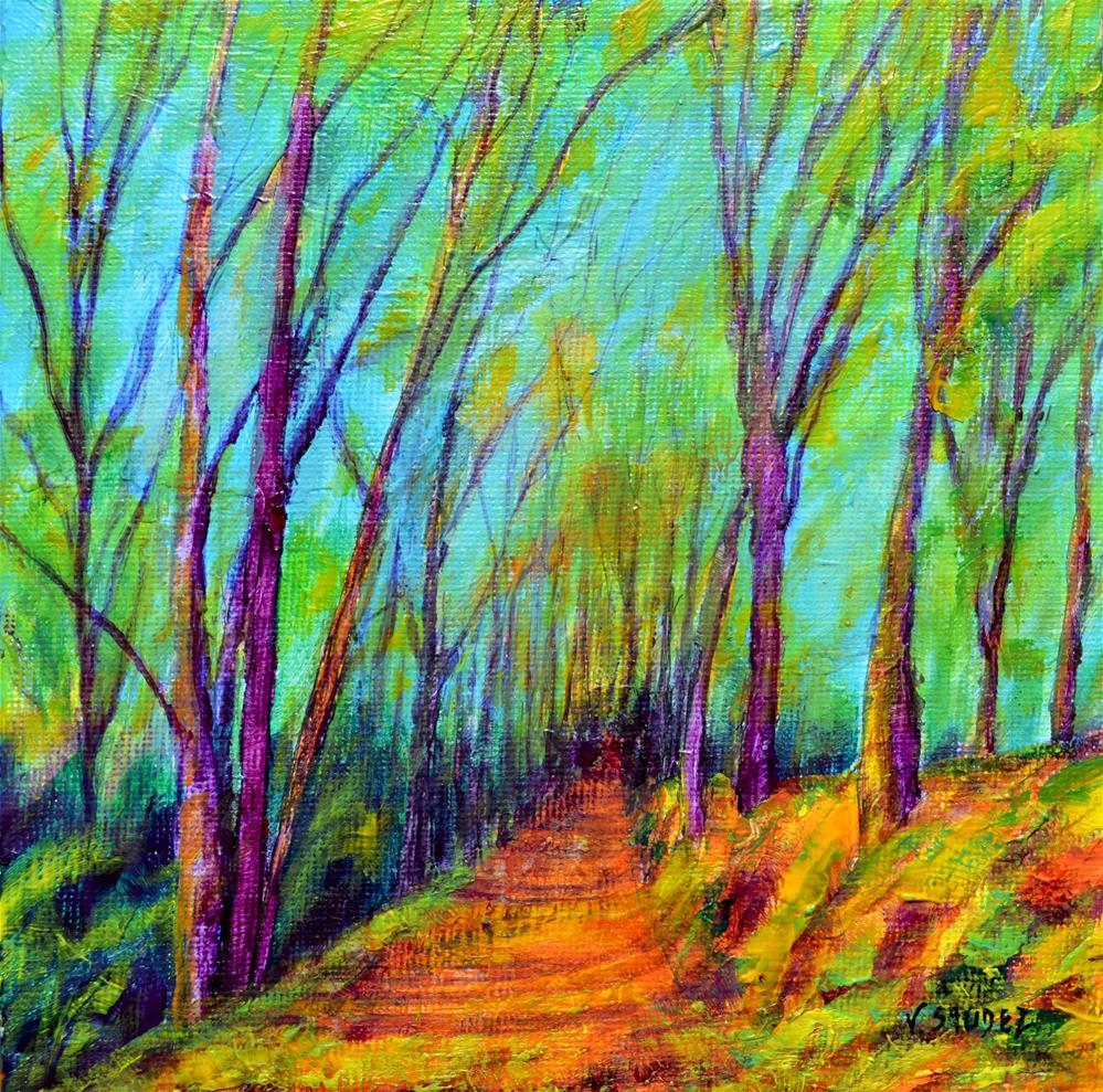 """""""The path"""" original fine art by Véronique Saudez"""