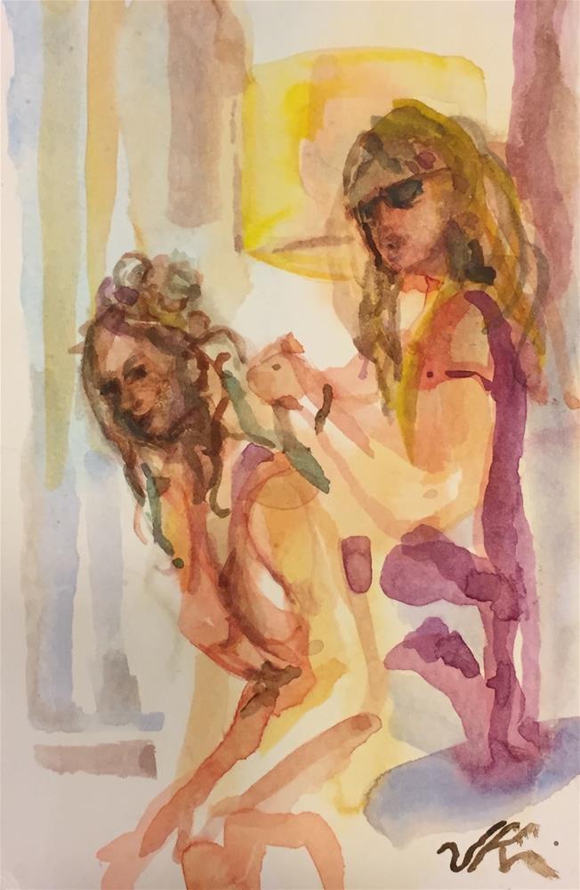 """The Bridesmaid"" original fine art by Jean Krueger"