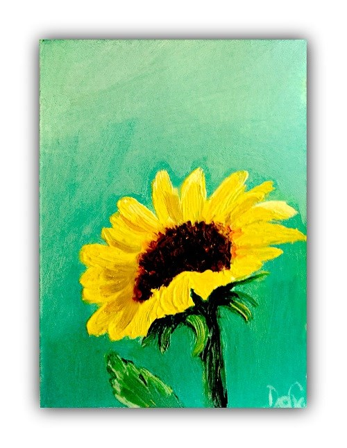 """Lone Sunflower"" original fine art by Dana C"