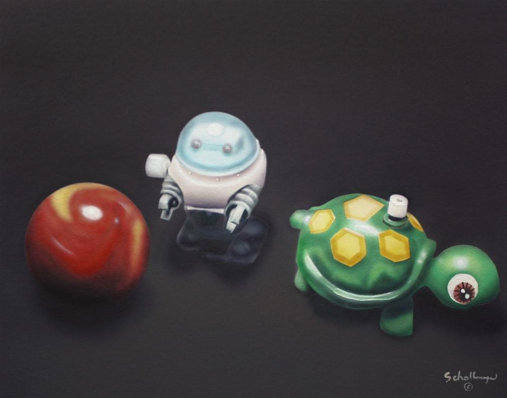 """""""Toys in the Attic"""" original fine art by Fred Schollmeyer"""