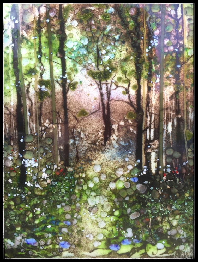 """""""Blue Bell Forest Walk"""" original fine art by Kelly Alge"""