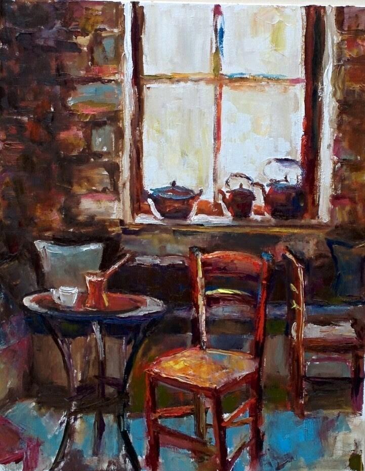 """Turkish Coffee"" original fine art by pepa sand"
