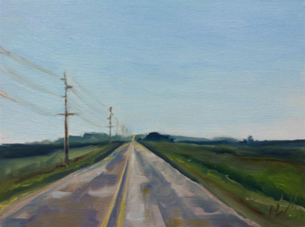 """""""Iowa C38"""" original fine art by H.F. Wallen"""
