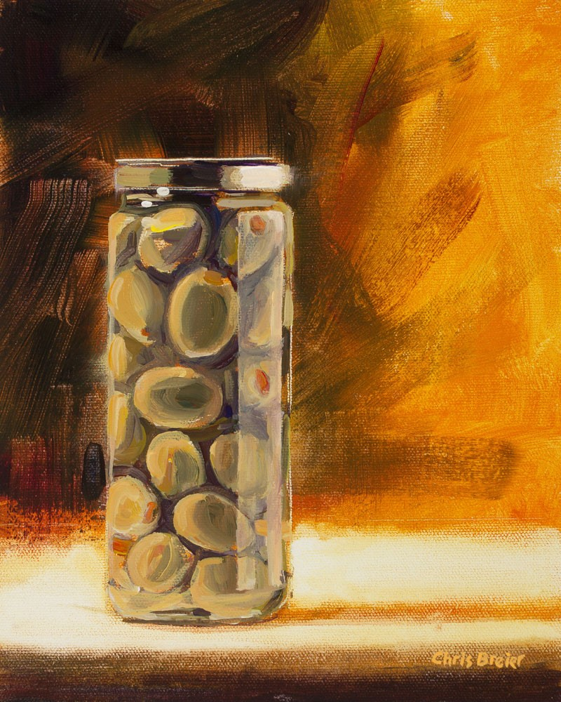 """Olives With Pimento"" original fine art by Chris Breier"