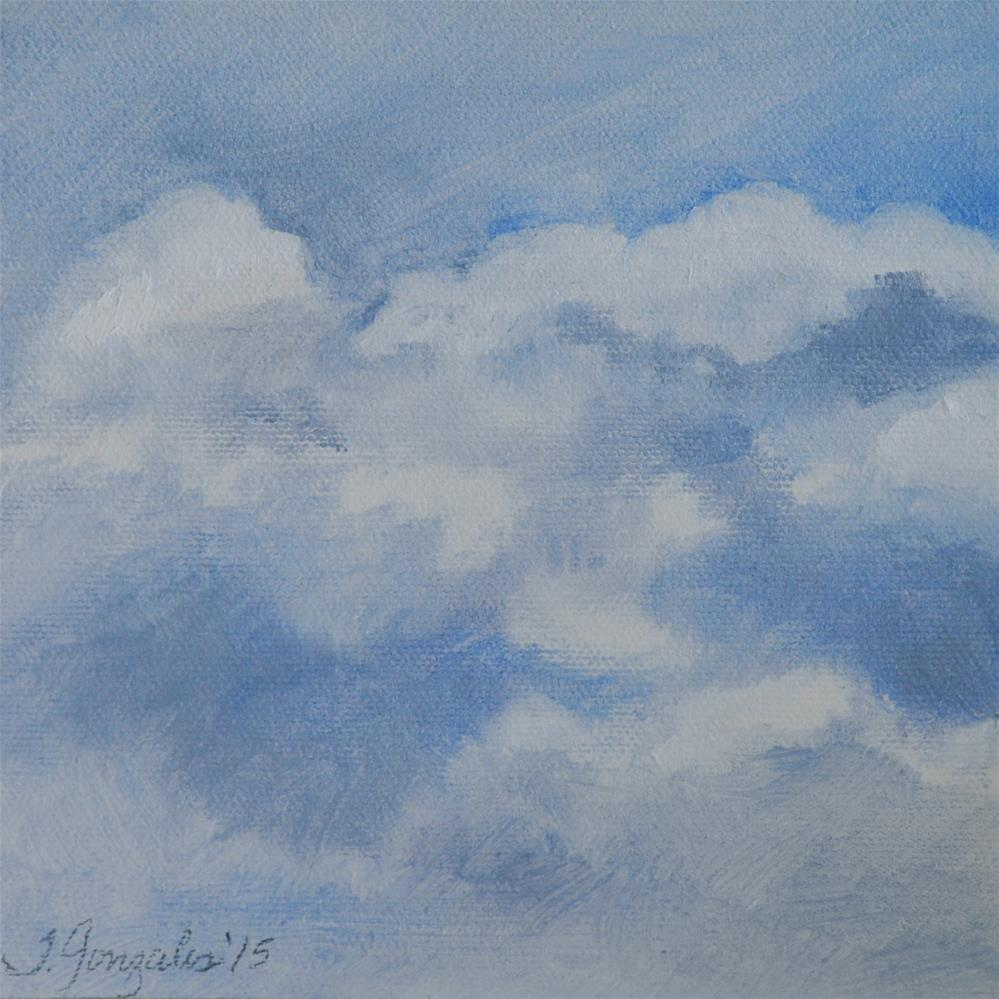 """More Clouds"" original fine art by Theresa Gonzales"