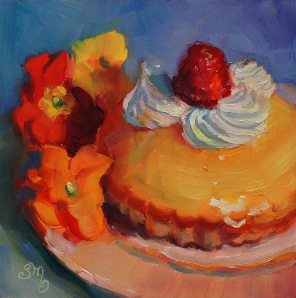 """""""No.765 Lemon Meringue Tart with Primrose"""" original fine art by Susan McManamen"""