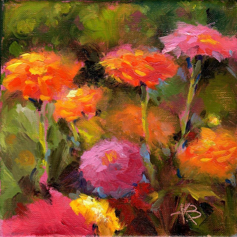 """""""Flower Field"""" original fine art by Kathy Bodamer"""