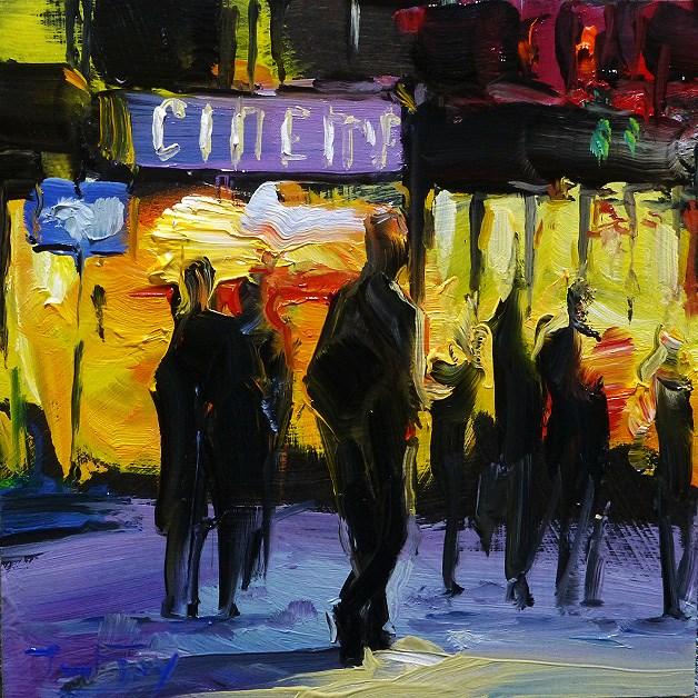 """Cinema"" original fine art by Jurij Frey"
