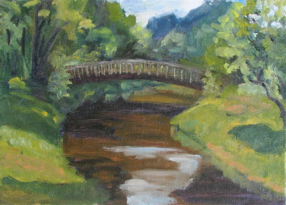 """Bridge Over Sand Creek"" original fine art by Jan Oxendale"