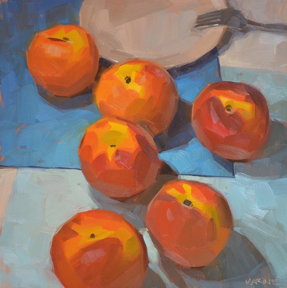 """Peach Odessey"" original fine art by Carol Marine"