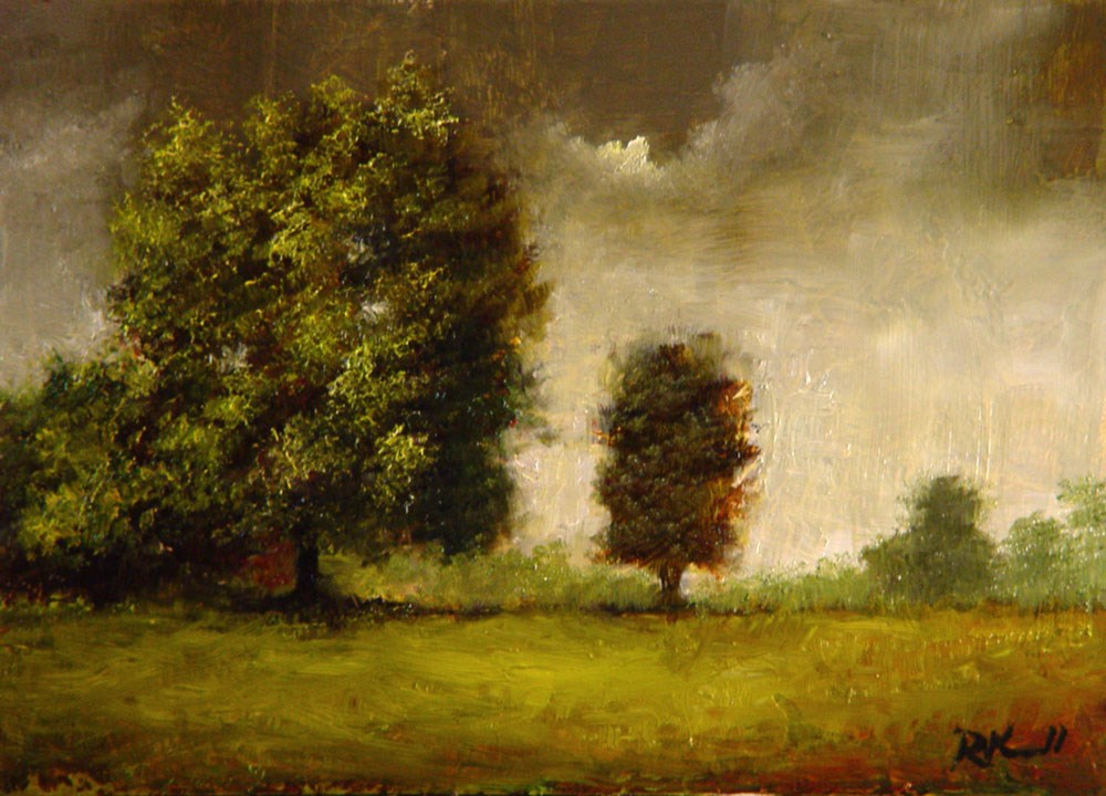 """""""Cloudy Day at the Park"""" original fine art by Bob Kimball"""