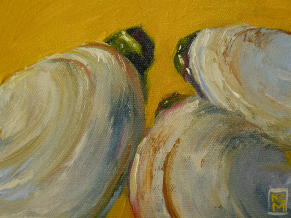 """""""TGIF!  And Clams, 4x6 Inch Oil Painting"""" original fine art by Kelley MacDonald"""
