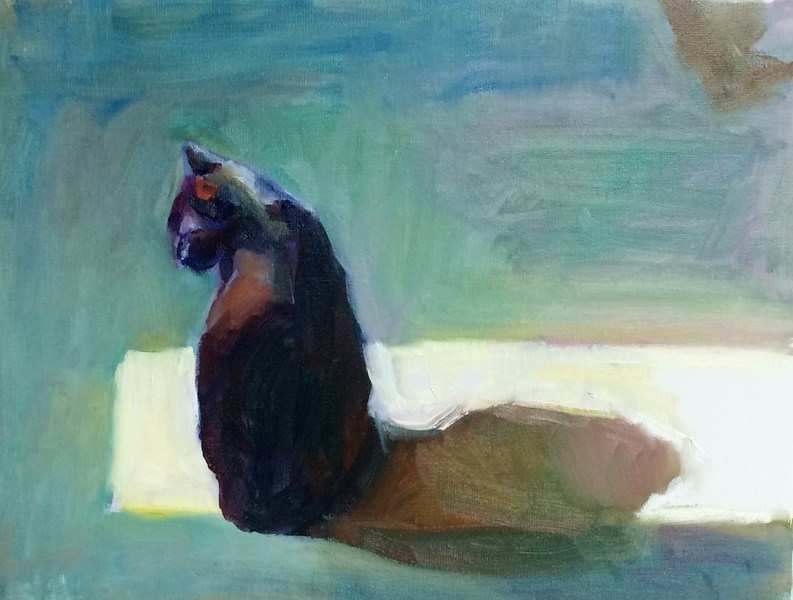 """My Light"" original fine art by Sharon Savitz"
