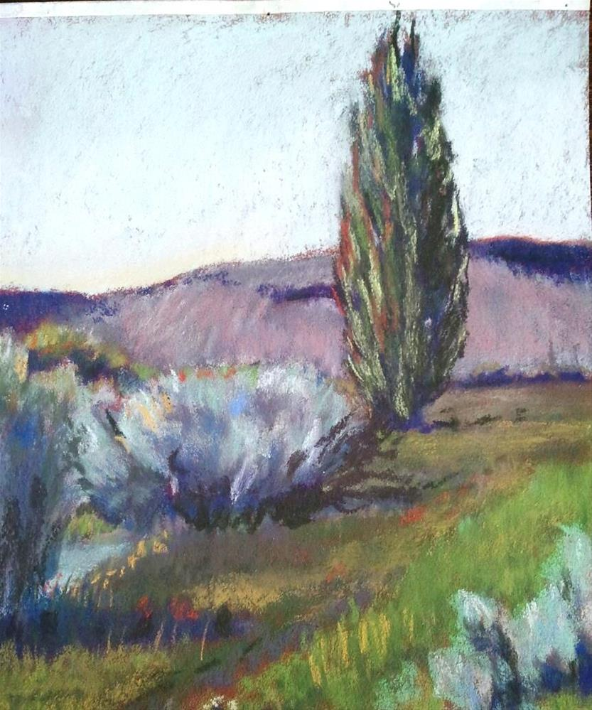 """McCoy Creek Poplar"" original fine art by Mary Davies Kerns"