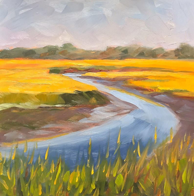 """#36 - Scarborough Marsh - Scarborough, ME"" original fine art by Sara Gray"