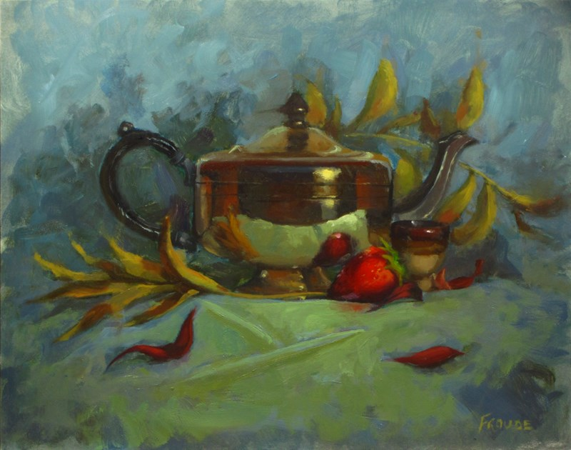 """""""Strawberry"""" original fine art by Dave Froude"""