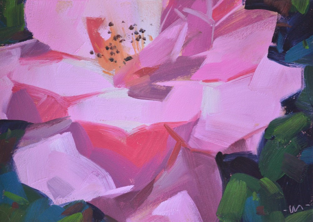 """""""Only in a Pink Paradise"""" original fine art by Carol Marine"""