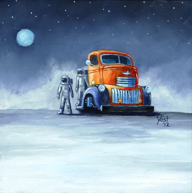"""""""Space Weirdos #1"""" original fine art by Matt Yost"""