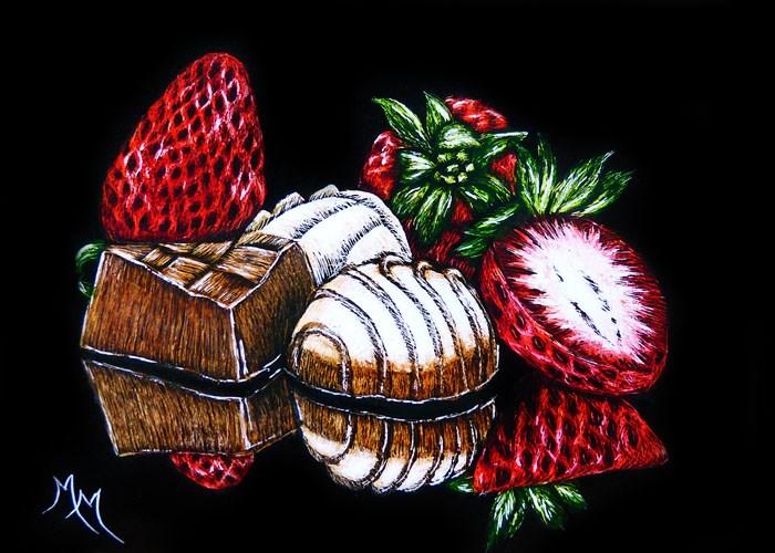 """""""Dessert Is Magical"""" original fine art by Monique Morin Matson"""