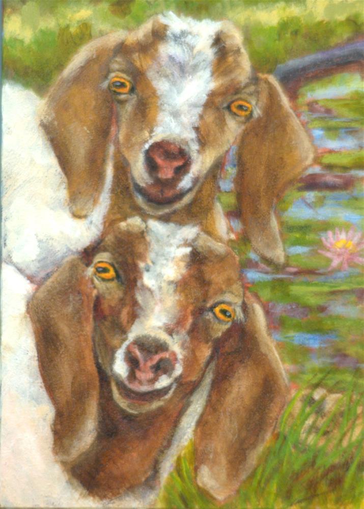 """Mira and Miguel"" original fine art by Carla Ridener"