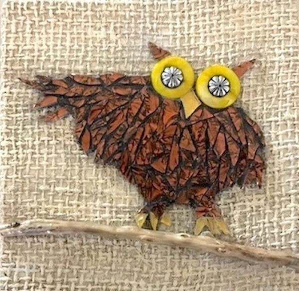 """Owl"" original fine art by Joetta Currie"