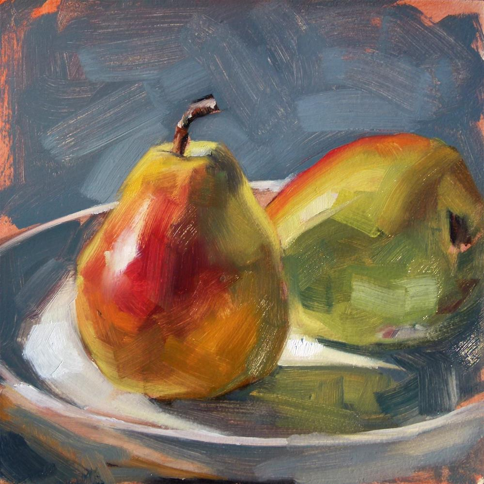 """""""Pears in Sun"""" original fine art by Deb Anderson"""