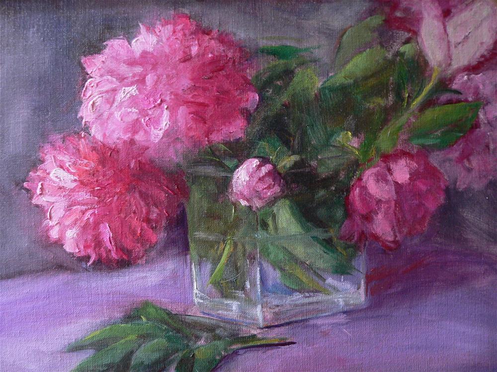 """Peonies from my garden"" original fine art by Carol Josefiak"