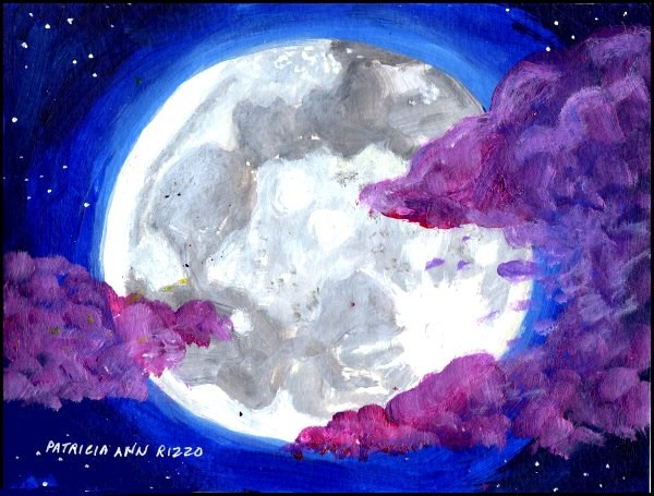 """By the Light of a Moon"" original fine art by Patricia Ann Rizzo"