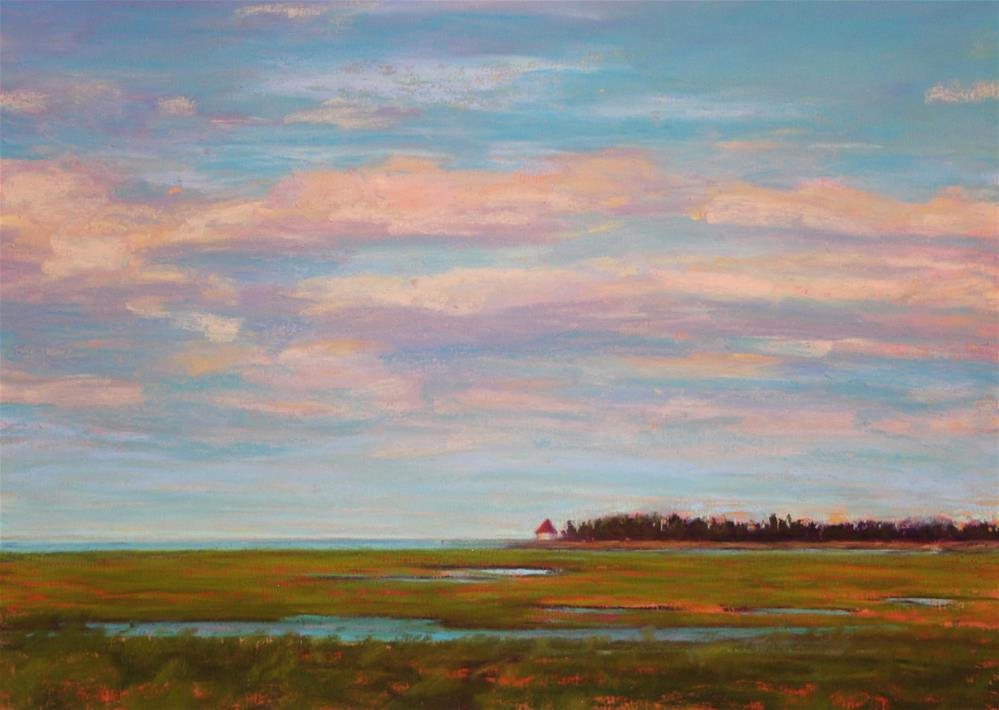 """Summer Marsh"" original fine art by Sharon Lewis"