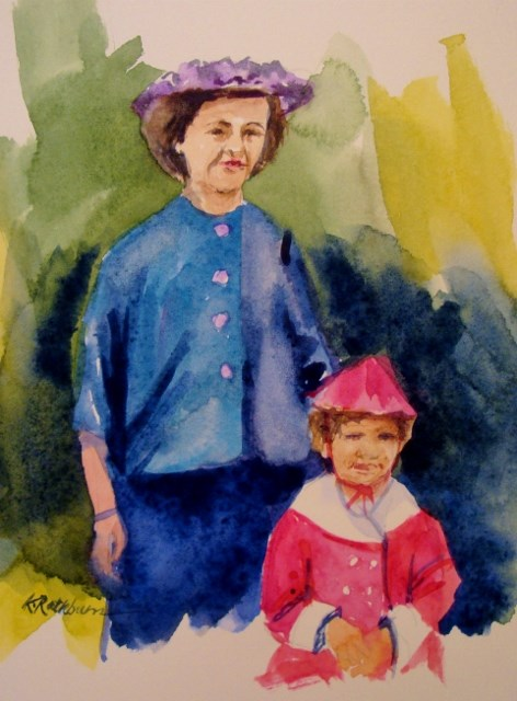 """""""Mommy and Me"""" original fine art by Kathy Los-Rathburn"""