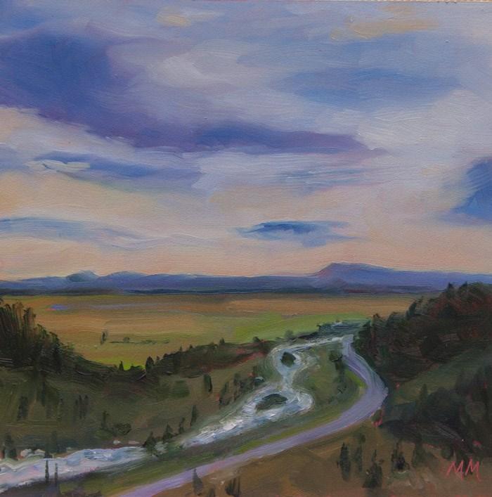 """Engagement Pointe - Madison River"" original fine art by Maria McNitt"