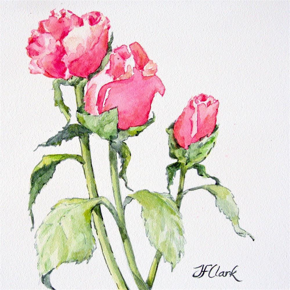 """Perfect Happiness"" original fine art by Judith Freeman Clark"