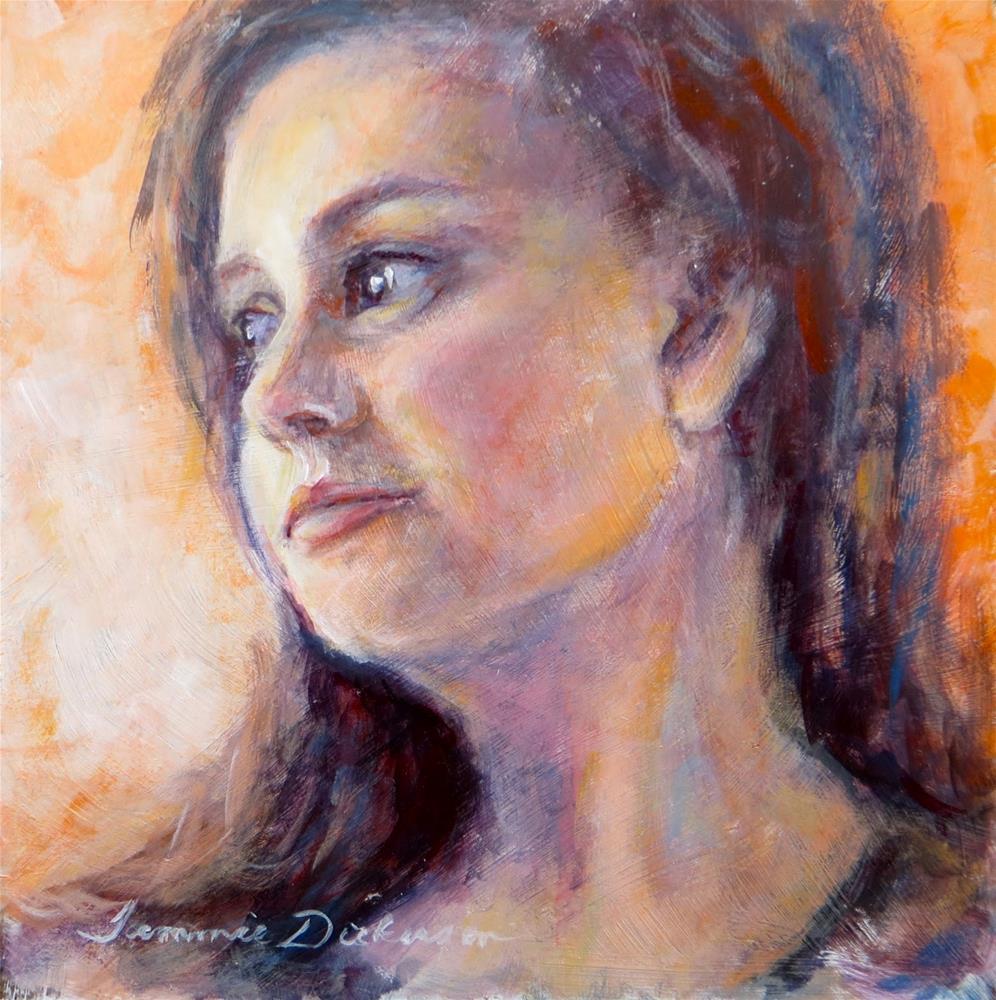 """The Glance"" original fine art by Tammie Dickerson"