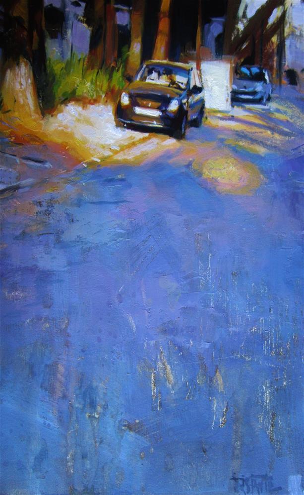"""""""Lighted car"""" original fine art by Víctor Tristante"""