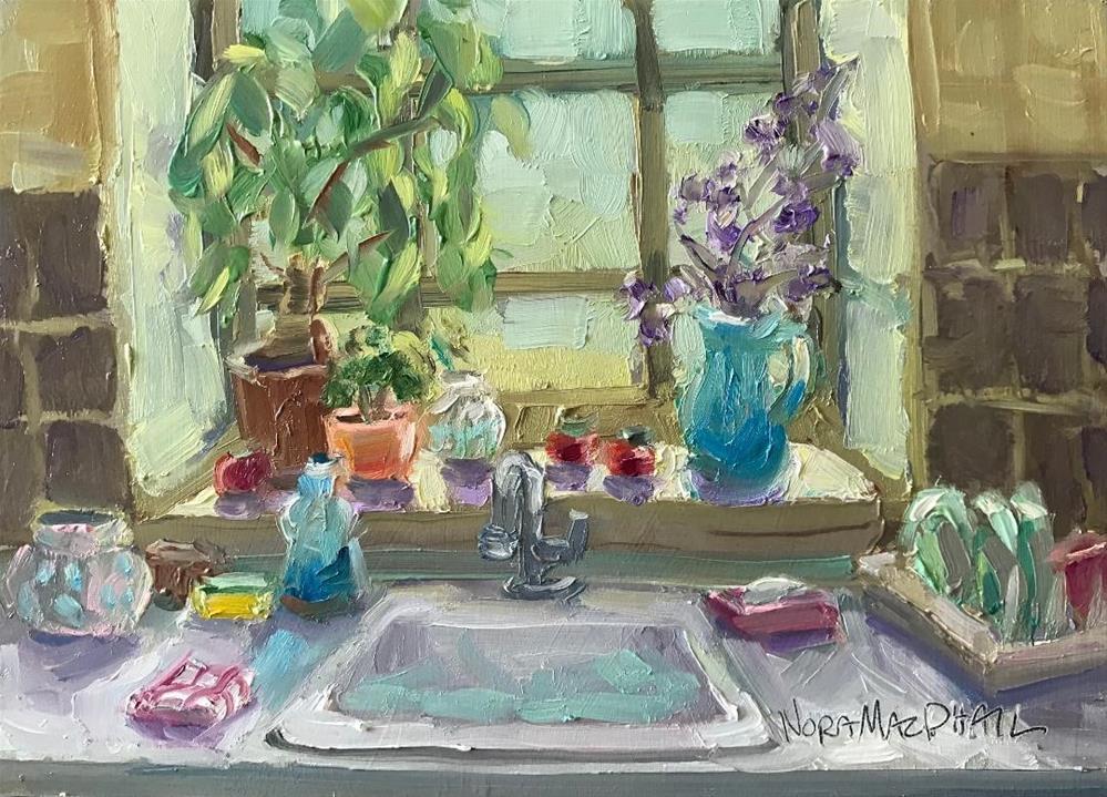 """the windowsill"" original fine art by Nora MacPhail"