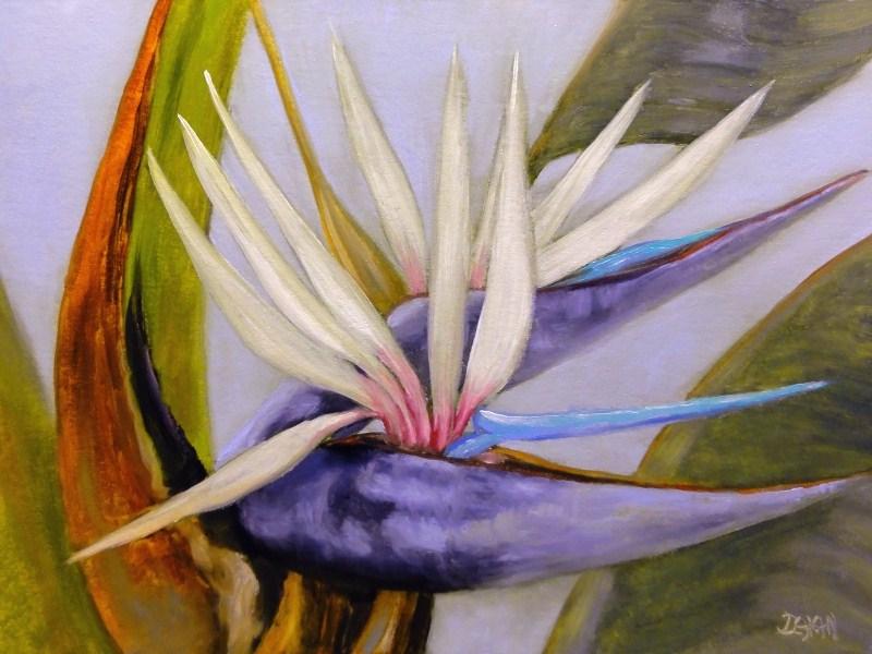 """White Birds Of Paradise II"" original fine art by Dalan Wells"