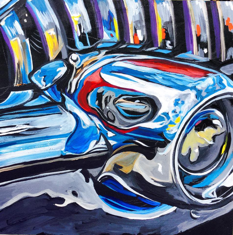 """Chrome Reflections"" original fine art by Lauren Kuhn"