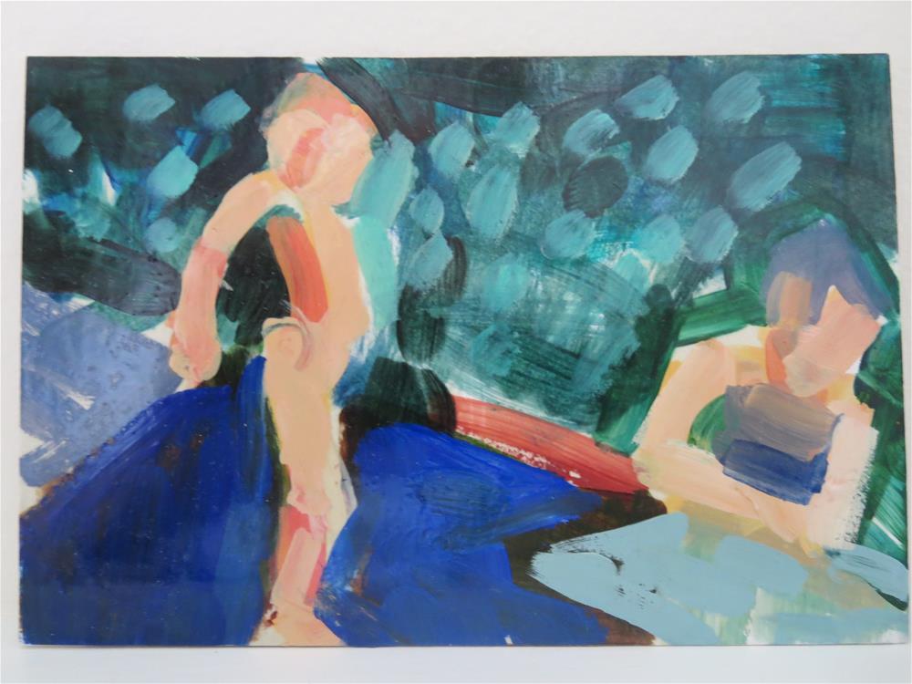 """In the Garden # 20"" original fine art by Pamela Hoffmeister"