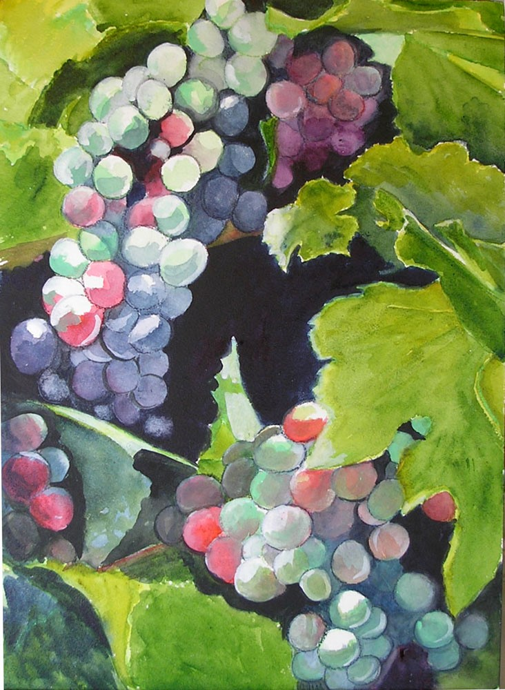 """""""Fruit of the Vine"""" original fine art by Bunny Griffeth"""