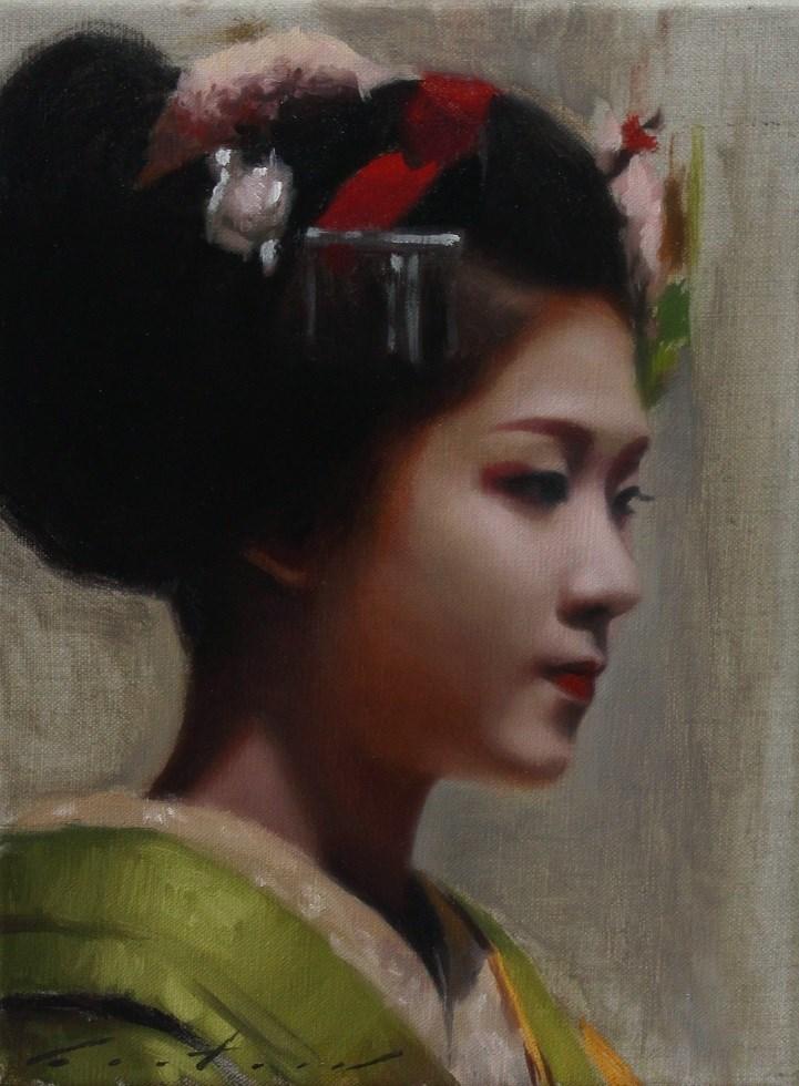 """Maiko Satohana (Village Flower)"" original fine art by Phil Couture"