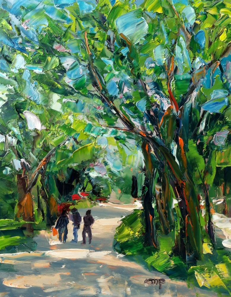 """Central Park Path"" original fine art by Christine Parker"