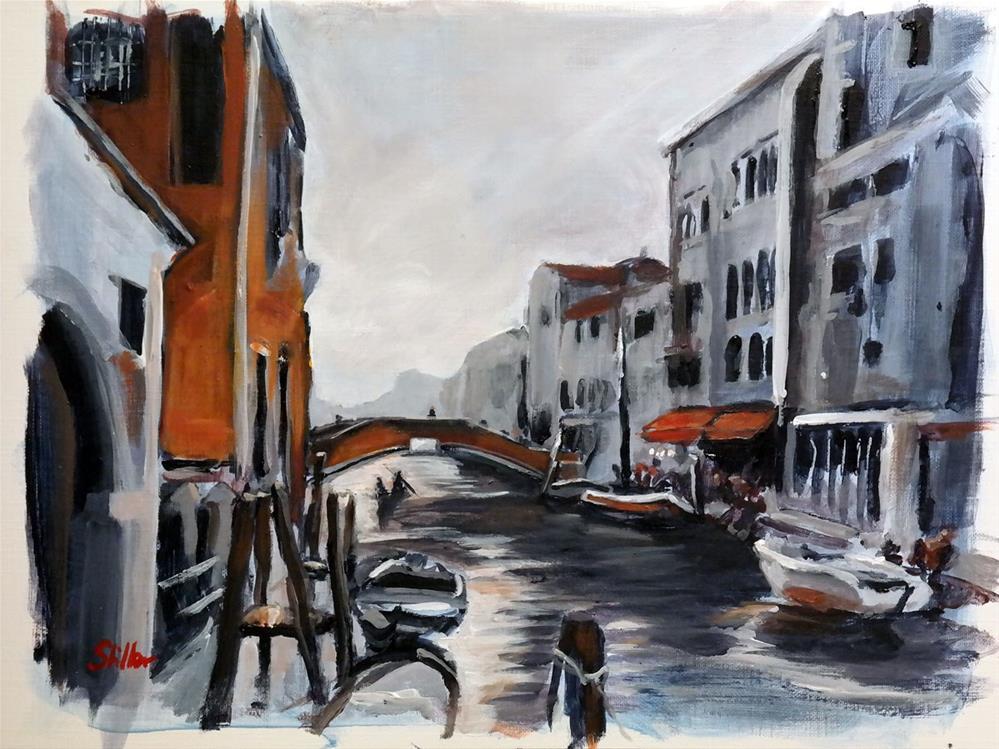 """""""1634 Venice in the Evening"""" original fine art by Dietmar Stiller"""