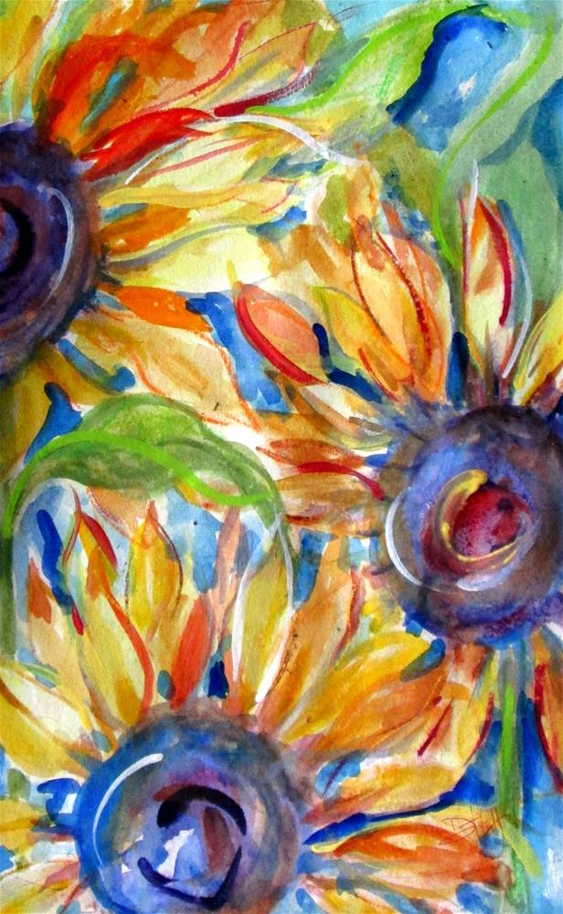 """Sunflower Madness"" original fine art by Delilah Smith"