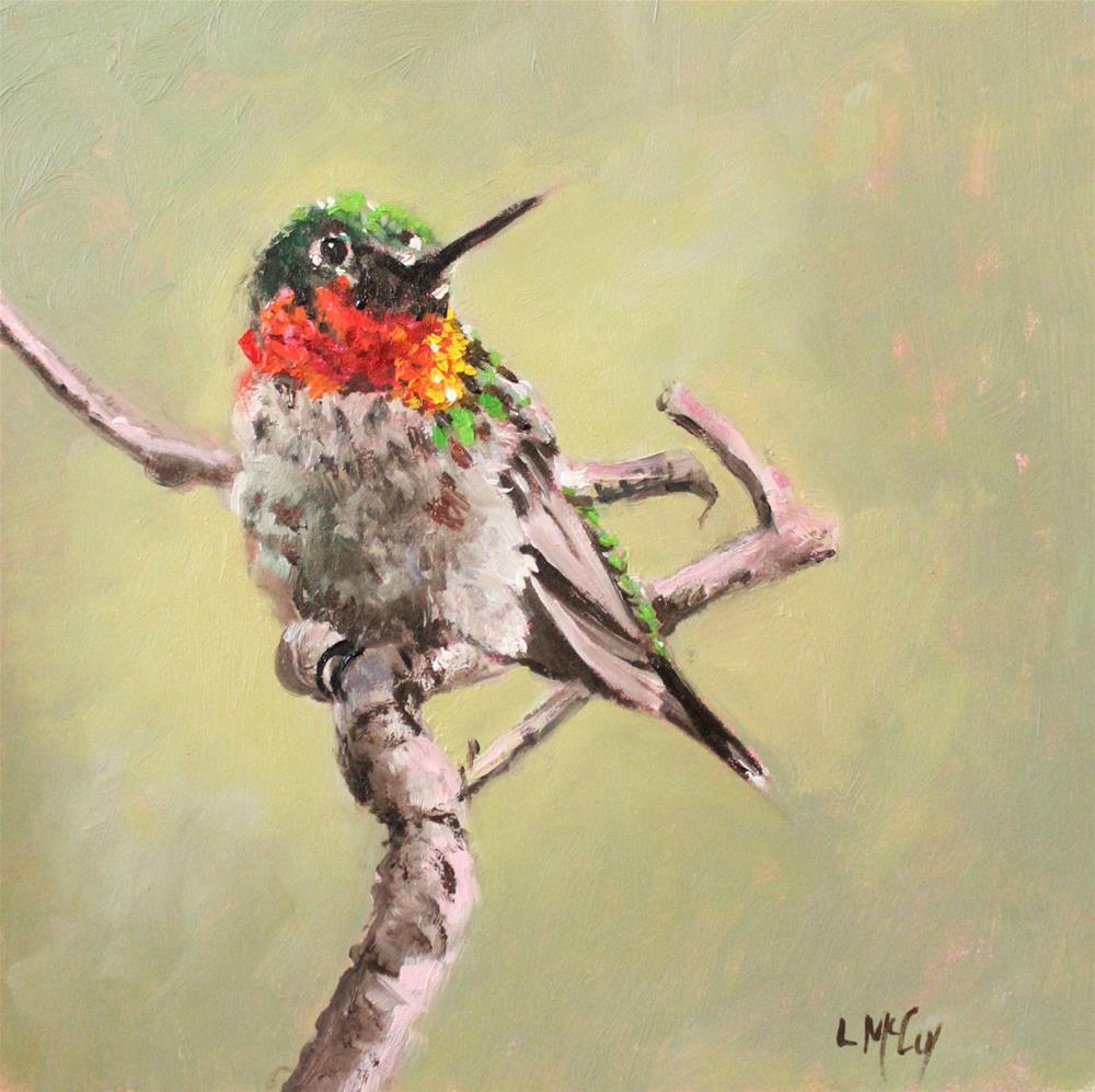 """""""Hummingbird, Morning Light"""" original fine art by Linda McCoy"""