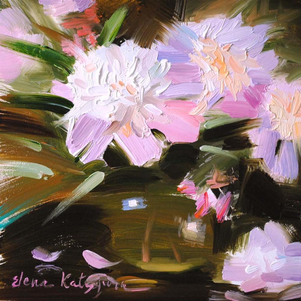 """Pink Peonies"" original fine art by Elena Katsyura"