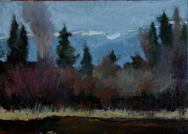 """Cascade Dusting"" original fine art by Susan Hammer"