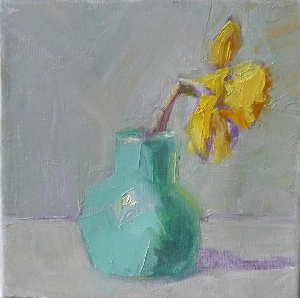 """Last Daffodil Standing"" original fine art by Carol Josefiak"